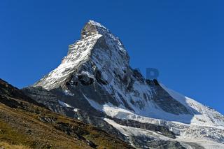 Nordwand am Matterhorn, Zermatt, Wallis, Schweiz