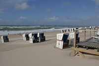 beach chairs after a storm