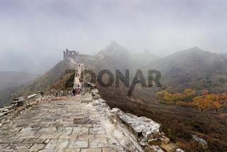 Wandern auf der chinesischen Mauer