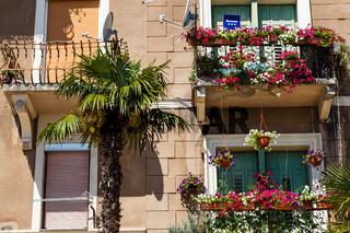 Scenic Old House Facade in Opatija, Croatia