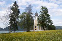 Kirche St. Margarethen  am Walchensee, Bayern