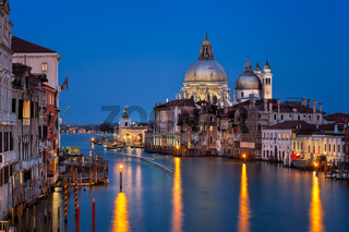 Santa Maria della Salute Church in the Evening, Venice, Italy