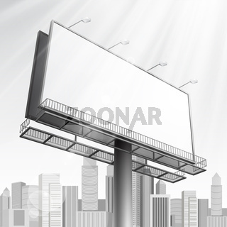 construction on city background