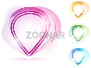 Colorful Neon Bubble Frame