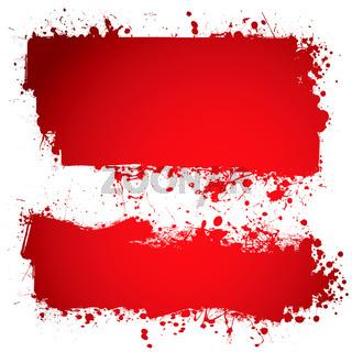 blood red ink banner