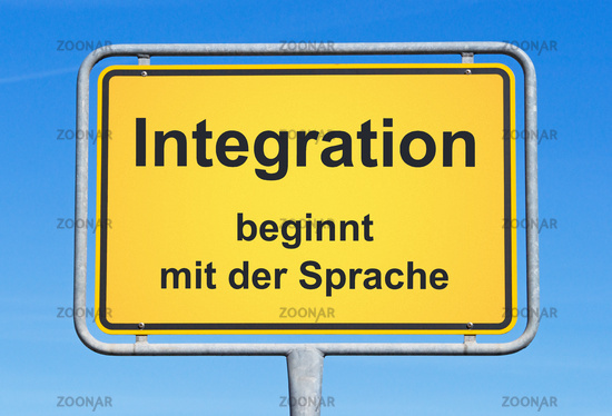 Integration begins with the language