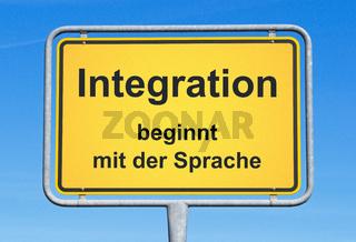 Integration beginnt mit der Sprache