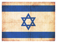 Grunge flag of the Isreal