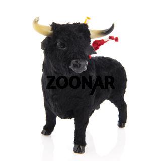 Spanish bull isolated over white background