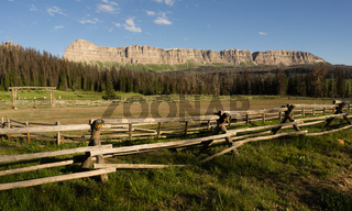 Brooks Lake Breccia Cliffs Mountain Range Shoshone National Forest Wyoming