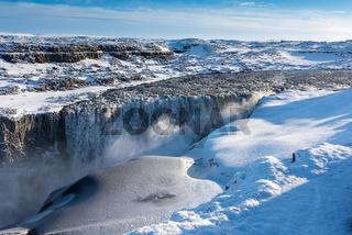 Dettifoss Island im Winter