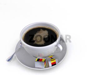 Kaffee mit silhouette