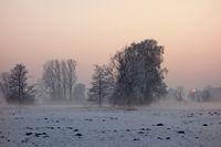 Sundown, Winter