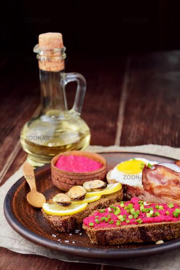 Tasty tapas on the table
