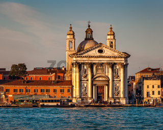 Venice Skyline and Santa Maria del Rosario Church, Venice, Italy