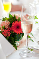The table decoration of a celebration