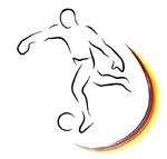 Fussball Symbol Deutschlandfarben