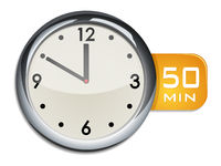 office wall clock timer 50 minutes