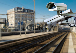 CCTV camera in railway station