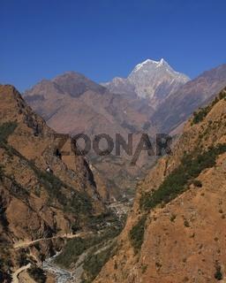 Tatopani and mount Nilgiri