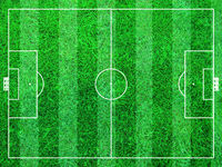 Abstract Soccer Field