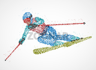 abstraction skier skiing