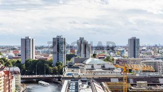 Berlin with Muhlendammbrucke (Mill Dam Bridge)