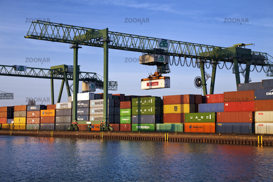 container harbour, Dortmund, Ruhr Area, North Rhine-Westphalia, Germany, Europe