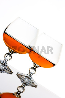 Brandy and glass