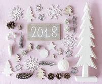 Christmas Decoration, Flat Lay, Text 2018