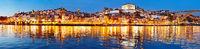 Porto twilight panoramic view, Portugal
