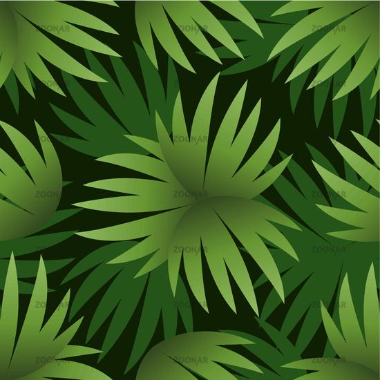 Seamless Pattern, Green Leaves