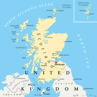 Scotland Political Map