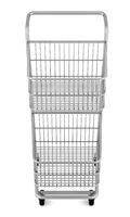 empty shopping cart isolated on white background. 3d illustration