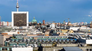 panoranic view of Berlin city from Reichstag