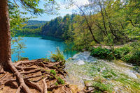 Plitvice lake waterfall