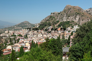 View of Taormina city, Sicily, Italy