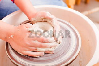 Child's ceramic handicrafts