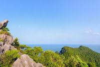 High angle view sea and sky