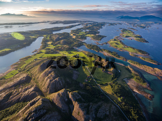 Beautiful Nature Norway aerial photography.