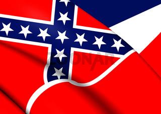Flag of Mississippi, USA.
