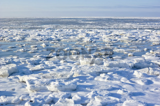 Eisschollen in der Nordsee vor St. Peter-Ording - Sheets of ice