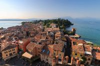 Sirmione, Italy seen from scaliger castle