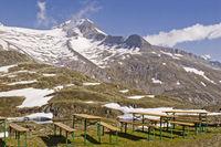 High alpine beer garden