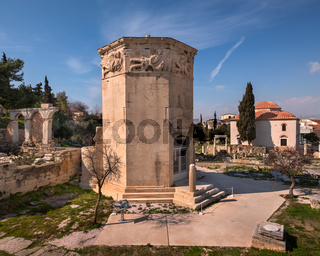 Tower of the Winds and Roman Agora in Athens, Greece