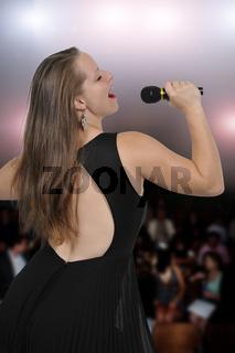 Beautiful Woman Singer