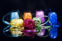 set of colourful gift ribbons