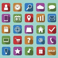 Flat Icons Set - ecommerce