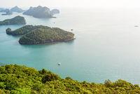 High angle view Mu Ko Ang Thong