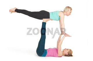 Yoga Frau grün Position_180
